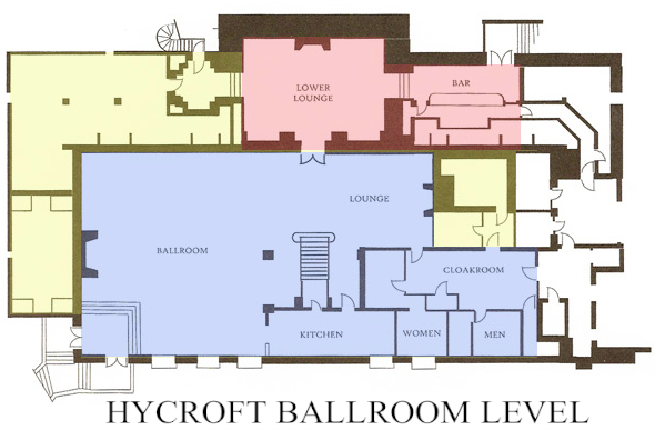 HYCROFT BALLROOM LEVEL SCHEMATIC